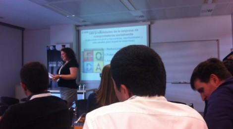 Workshop de cómo hacer una empresa más social con la creación de Valora compartido CVC en el 20 aniversario de la UOC Universitat Oberta de Catalunya